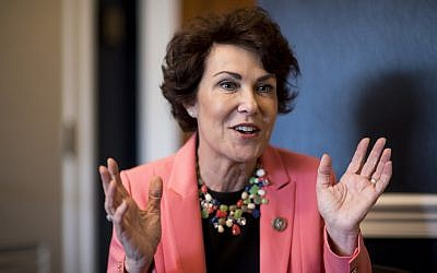 Rep. Jacky Rosen, D-Nev., speaks with Roll Call in her office on Capitol Hill on October 26, 2017. (Bill Clark/CQ Roll Call)