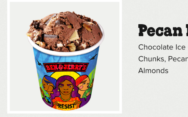 Ben & Jerry's Pecan Resist flavor (Screenshot from Ben & Jerry's website/JTA)