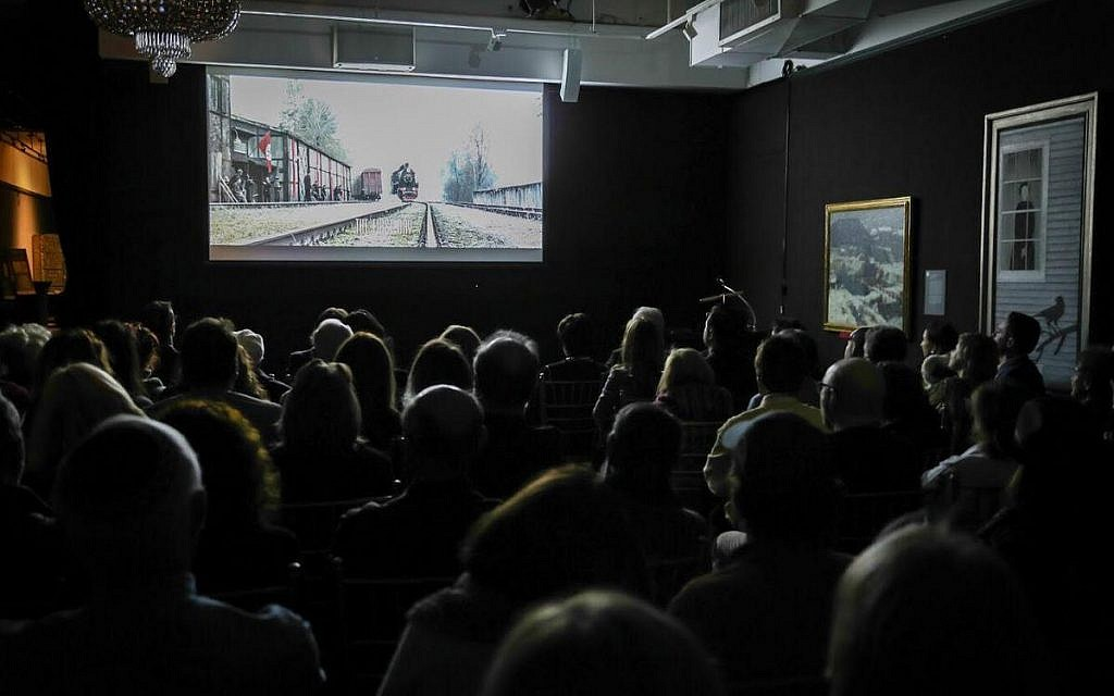 The audience watches 'Sobibor' at the National Arts Club in New York, Sunday, November 18, 2018. (Courtesy)