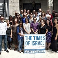 Reporters and editors at The Times of Israel (Ariel Jerozolimski)