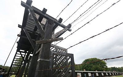 The main gate leading into the former Nazi German Stutthof concentration camp in Sztutowo, Poland, July 18, 2017. (AP Photo/Czarek Sokolowski)