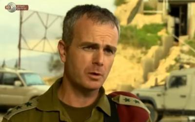 Col. Alon Madanes in 2016. (Screenshot: YouTube)