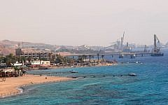 Illustrative image of the port of Eilat (Jorge Novominsky/Flash90)