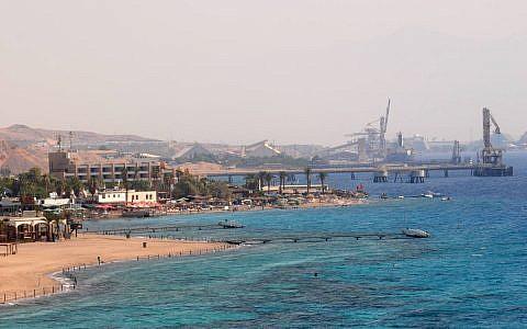 Illustrative image of the port of Eilat (Jorge Novominsky/Flash90)
