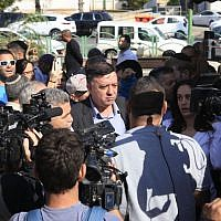 Zionist Union chairman Avi Gabbay in Ashkelon, Tuesday, November 12, 2018. (Ra'anan Cohen)