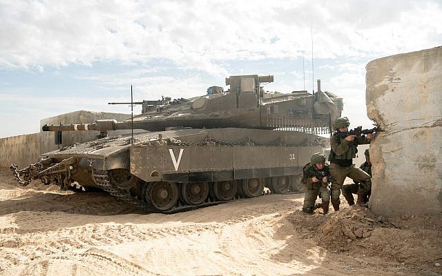 Soldiers from the Israel Defense Forces' new Faran Brigade, which will defend the Egyptian-Israeli border, take part in a training exercise in southern Israel in November 2018. (Israel Defense Forces)