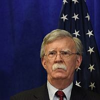National security advisor John Bolton at a media briefing during the United Nations General Assembly in New York City, September 24, 2018. (Stephanie Keith/Getty Images)
