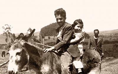 Jewish immigrants on a farm 30 kilometers (18 miles) south of Quito. (Courtesy Eva Zelig)
