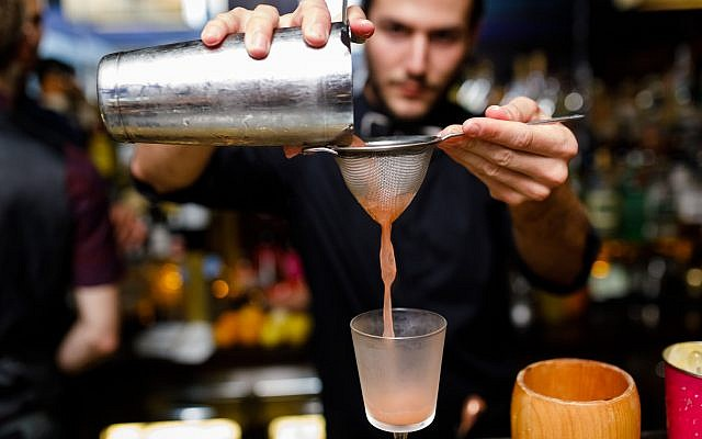 Bartenders from the Gatsby cocktail bar will be pouring drinks for Open Restaurants Jerusalem at the temporary bar of Fink's, the legendary watering hole currently on display at the Tower of David museum (Courtesy Igor Pavrov)
