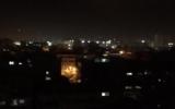 Illustrative: IDF strikes in Gaza, November 11, 2018 (Channel 10 screenshot)