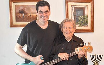 Lazar Wall, left, wrote a song for Holocaust survivor Freddy Glatt. (Marcus Gilban)