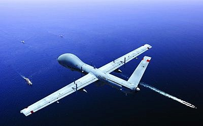 Elbit Systems Ltd.'s Hermes 900 Maritime Patrol system will help monitor Europe's coast (Courtesy)