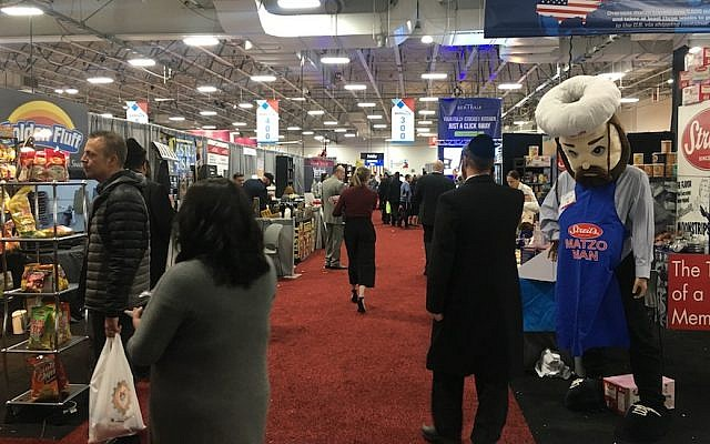Kosherfest participants at the Meadowlands Exposition Center in Secaucus, New Jersey, November 13, 2018. (Josefin Dolsten)