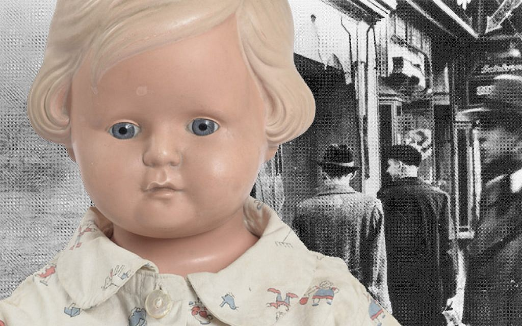 This doll is Lore Mayerfeld's direct link to the events of Kristallnacht. (Yad Vashem/Getty Images/via JTA)