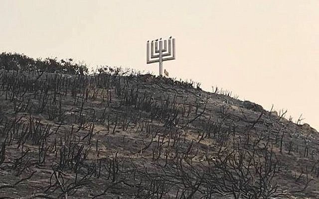 A view of Camp Hess Kramer in Malibu, California, posted on November 11, 2018, after a fire burned a hillside there. (Camp Hess Kramer/Facebook)