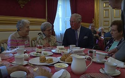 Prince Charles marks the 80th anniversary of the Kindertransport with a reception for former refugees, at St James' Palace on November 20, 2018. (YouTube screenshot)