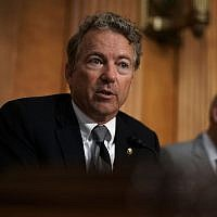 Republican Senator Rand Paul of Kentucky speaks during a hearing before Senate Foreign Relations Committee on Capitol Hill, July 25, 2018. (Alex Wong/Getty Images)