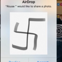 A screenshot of the swastika image received by students at Oak Park and River Forest High in Chicago on November 9, 2018.