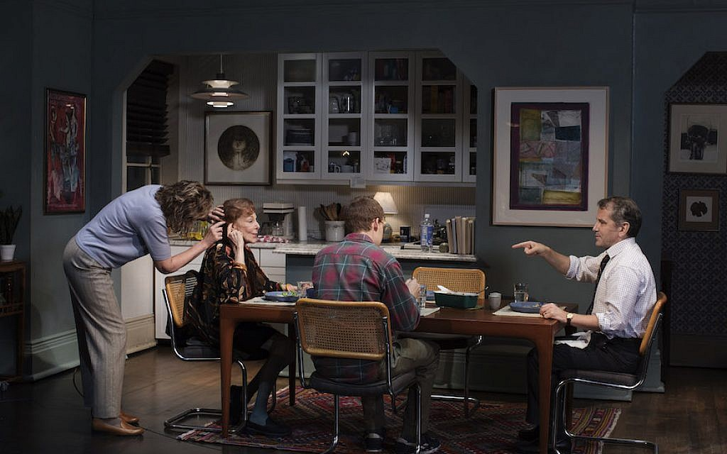 A scene from 'The Waverly Gallery' shows, from left, Joan Allen, Elaine May, Lucas Hedges and David Cromer. (Brigitte Lacombe/via JTA)