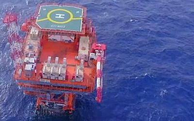 Installations at the Zohr natural gas field off Egypt's coast. (YouTube screen shot)