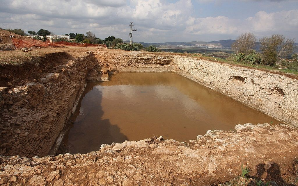 A 3rd century pool recently excavated in Zippori National Park. (Tsvika Tsur/Israel Nature and Parks Authority)