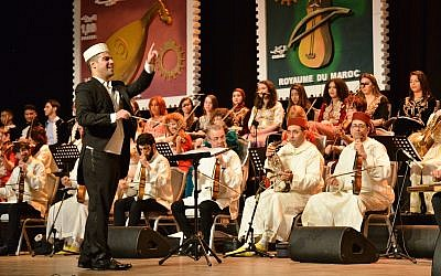 A December 2018 performance of the Israeli Andalusian Orchestra Ashdod at Morocco's annual Andalussyat Festival (Courtesy Israeli Andalusian Orchestra Ashdod)