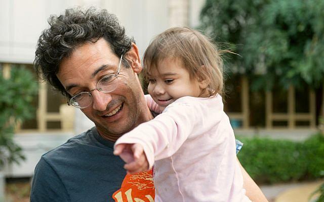 Noam Baumatz and his daughter, Noga. (Courtesy)