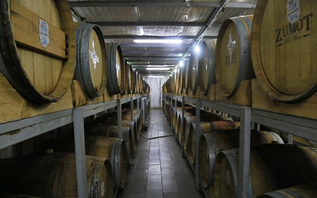 A picture taken on November 5, 2018, shows the inside the Saint George winery in Zahab, an eastern suburb of Amman, Jordan. (Laure van Ruymbeke/AFP)