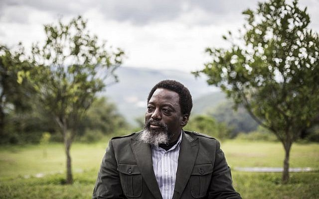 President of the Democratic Republic of the Congo, Joseph Kabila sits in a garden at his personal ranch on December 10, 2018 in Kinshasa. (John WESSELS / AFP)