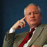 In this file photo taken on October 2, 2011, The Weekly Standard Editor Bill Kristol leads a discussion at the National Press Club in Washington, DC. (CHIP SOMODEVILLA / GETTY IMAGES NORTH AMERICA / AFP)