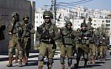 Israeli troops in Ramallah on December 15, 2018 (ABBAS MOMANI / AFP)