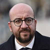 In this file photo taken on November 17, 2017, Belgium's Prime Minister Charles Michel walks to a luncheon during the European Social Summit in Gothenburg, Sweden. (Jonathan Nackstrand/AFP)