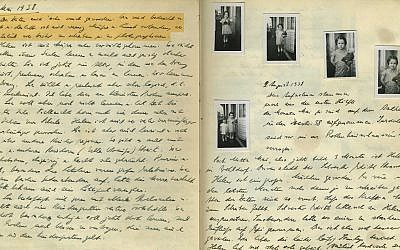 May 3, 1938: 'Segregation in Kindergarten.' Wilhelm Hesse, father of Eva Hesse — who would go on to be one of the most famous female American artists of the 20th century — kept a diary for his daughters. 'The times have become very serious. We are depressed and despondent, and therefore there is little leisure and inclination to write and take photographs as elaborately as before,' he wrote. (Courtesy of Leo Baeck Institute – New York | Berlin)