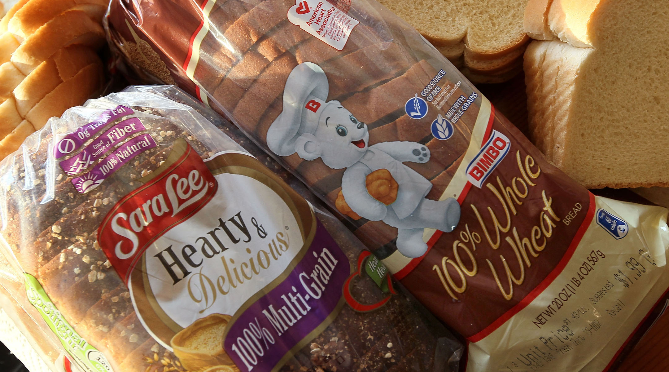 Sara Lee And Bimbo Bread Products Are Displayed Together In A Chicago Store 2010