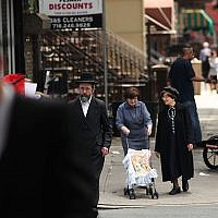 An Orthodox Jewish neighborhood in Brooklyn, June 14, 2012. (Spencer Platt/Getty Images/via JTA)