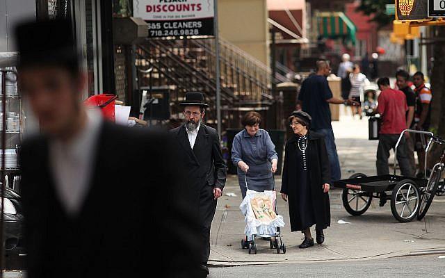 An Orthodox Jewish neighborhood in Brooklyn, June 14, 2012. (Spencer Platt/Getty Images/via JTA)
