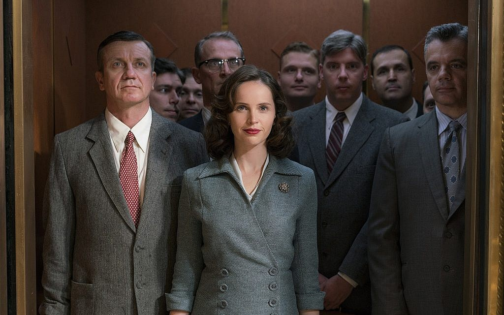 Felicity Jones plays a young Ruth Bader Ginsburg in 'On the Basis of Sex.' (Jonathan Wenk/Focus Features/via JTA)