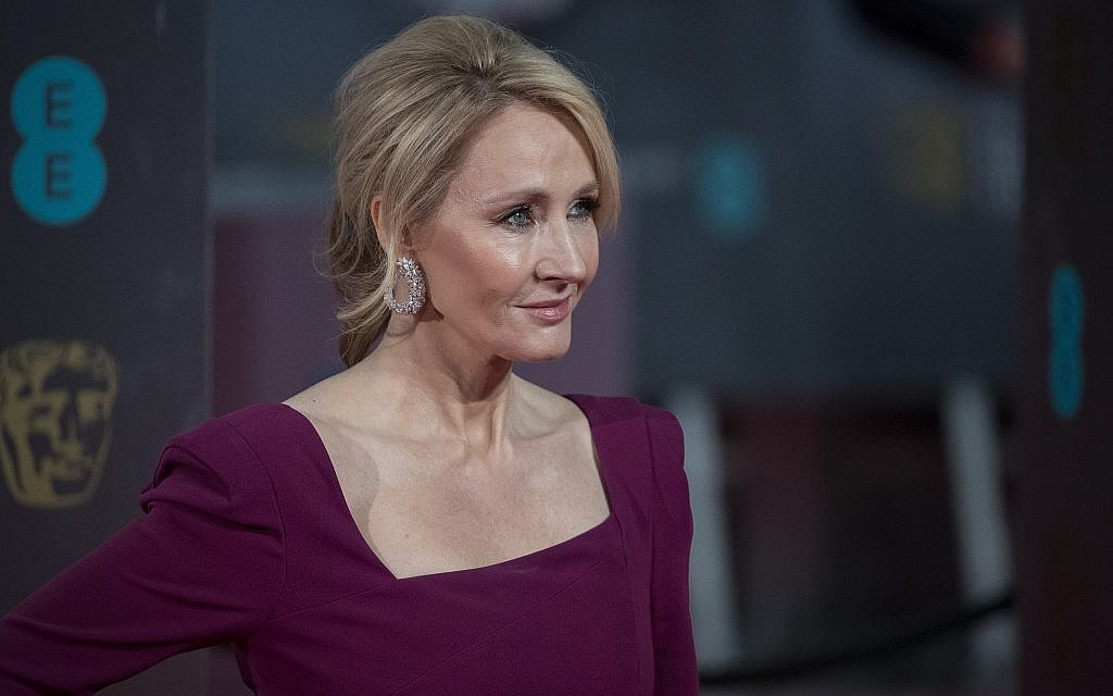 J.K. Rowling at the British Academy Film Awards (BAFTA) at Royal Albert Hall in London, February 12, 2017. (John Phillips/Getty Images/via JTA)