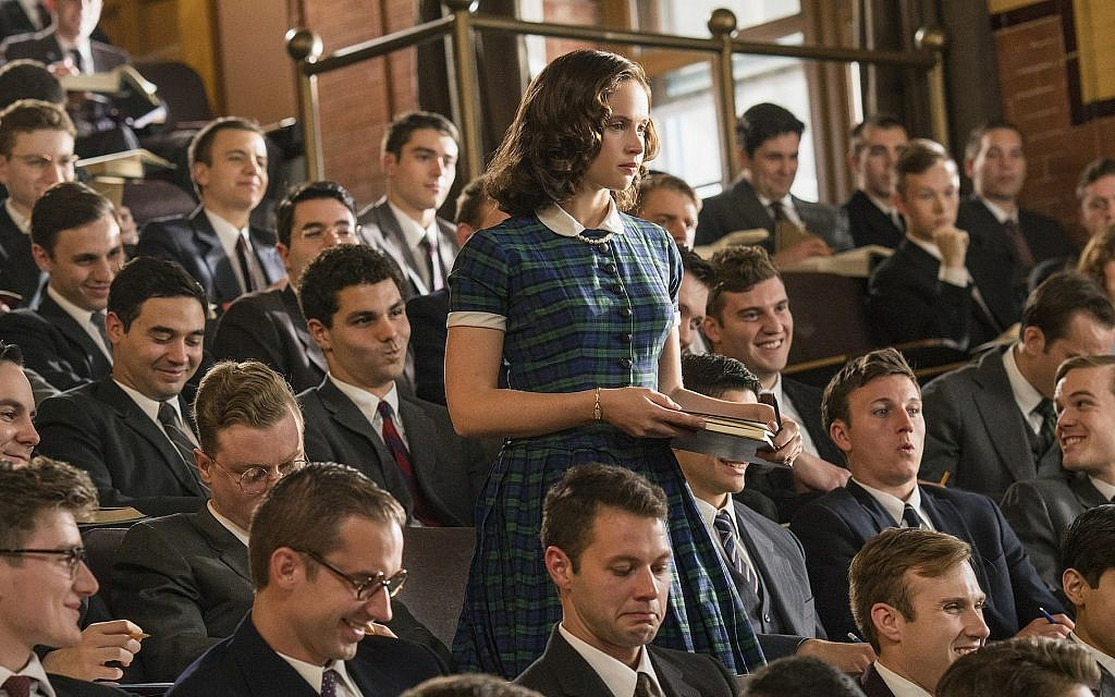 'On the Basis of Sex' recalls that when Ruth Ginsburg entered Harvard Law School in 1956, she was one of nine women in the class, the sixth ever to accept women. (Jonathan Wenk/Focus Features/via JTA)