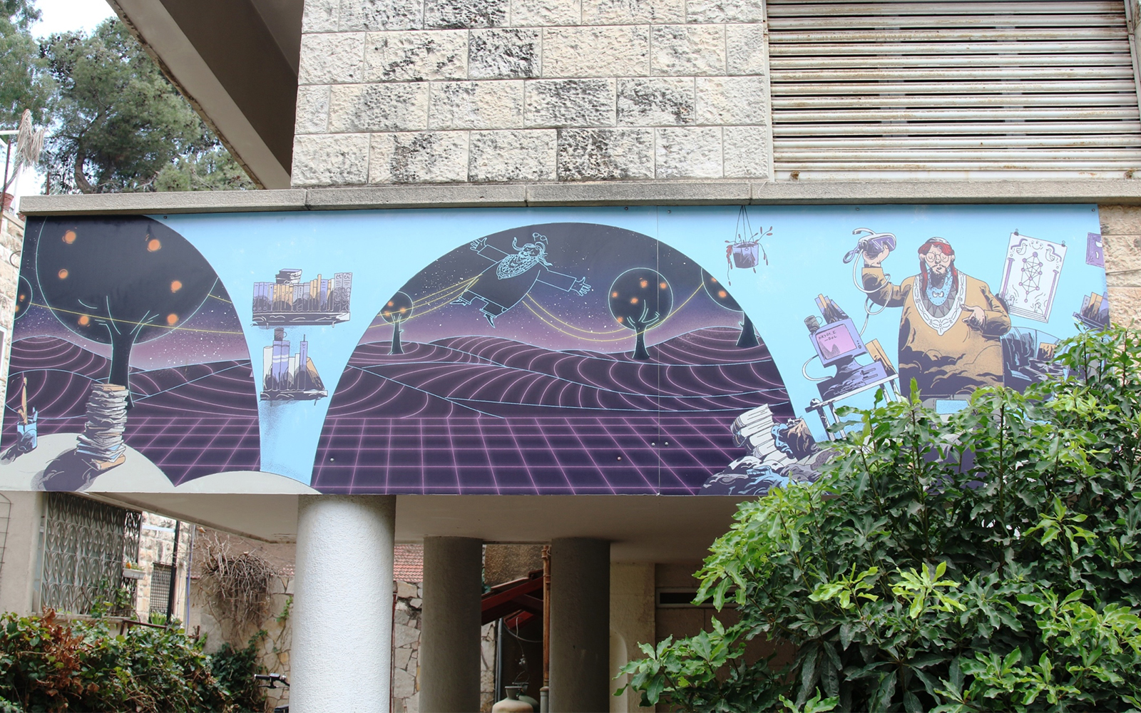 "Part of the ""Street Talk"" exhibition in Jerusalem. The exhibition is meant to revitalize Gaza Street, the main byway in the neighborhood of Rehavia (Shmuel Bar-Am)"