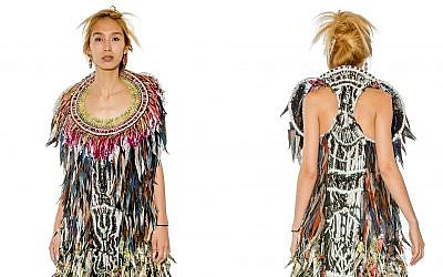 An African-inspired piece of clothing created from recycled pieces of fabric, by Ganit Goldstein (Courtesy Ganit Goldstein)