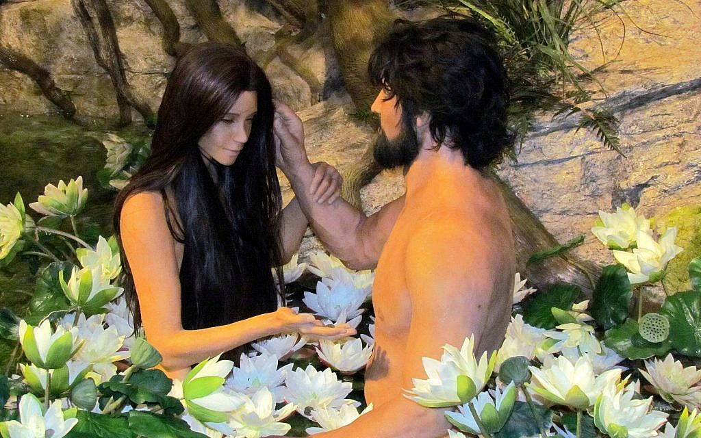A display of Adam and Eve in the Garden of Eden at the Creation Museum in Petersburg, Kentucky. (Flickr/ David Berkowitz)