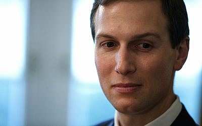 In this December 13, 2018, photo, White House senior adviser Jared Kushner listens during a meeting between President Donald Trump and newly elected governors in the Cabinet Room of the White House in Washington. (AP Photo/Evan Vucci)
