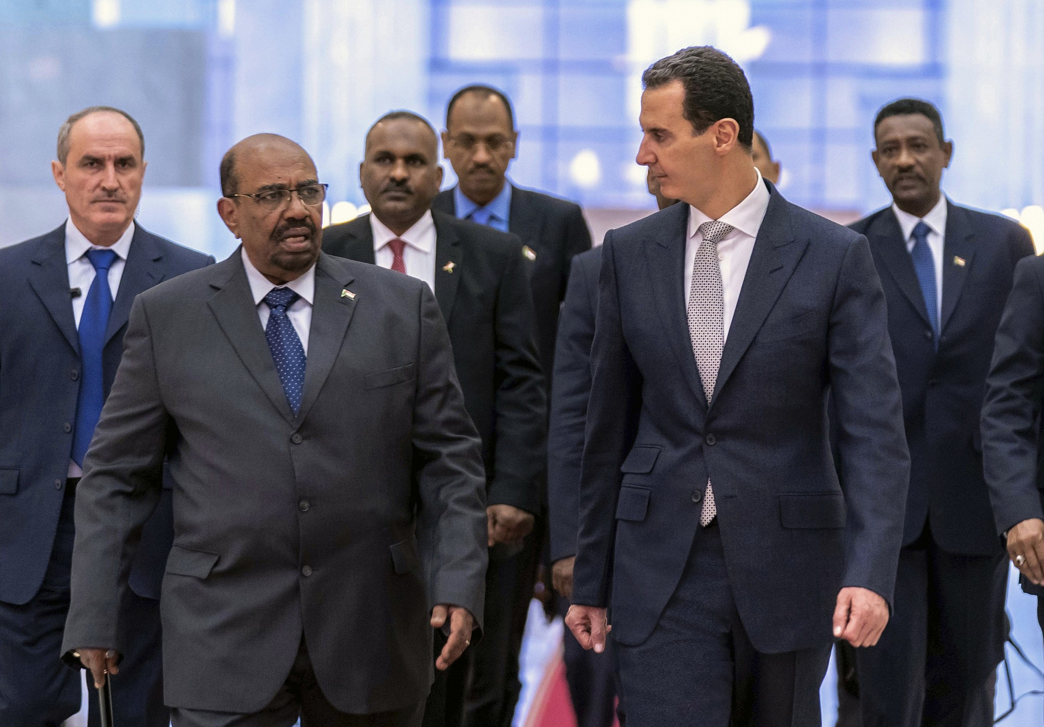 Situations and crises: Sudan's Bashir visits Damascus, meets Assad: Syrian presidency