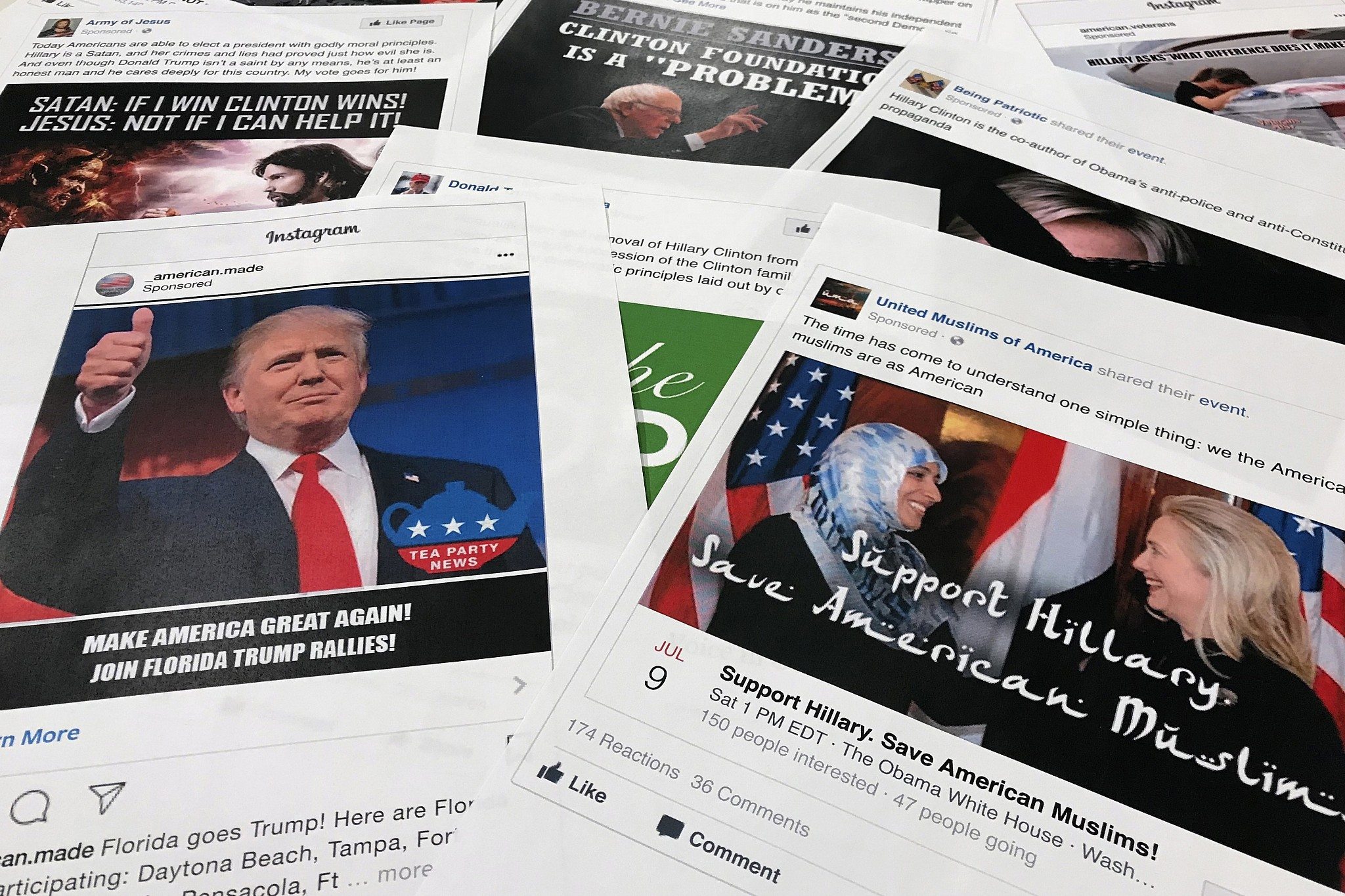 Russian Federation  used all major social media platforms to aid Trump