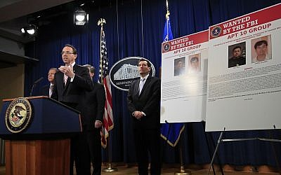 Deputy Attorney General Rod Rosenstein speaks during a news conference at the Department of Justice in Washington, Thursday, Dec. 20, 2018. (AP/Manuel Balce Ceneta)