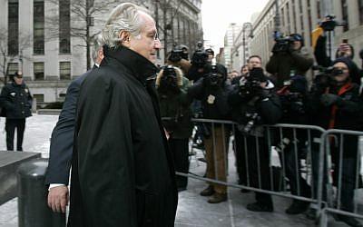 Bernard Madoff leaves Federal Court Wednesday, Jan. 14, 2009 in New York. (AP/Frank Franklin II)