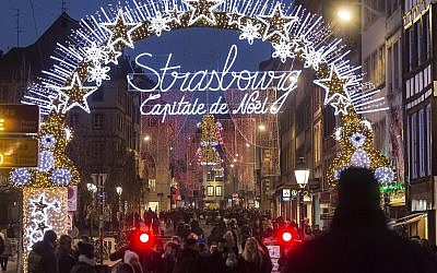 Illustrative: People stroll through a Christmas Market in Strasbourg, eastern France, Tuesday, Dec. 20, 2016 (AP Photo/Jean-Francois Badias)