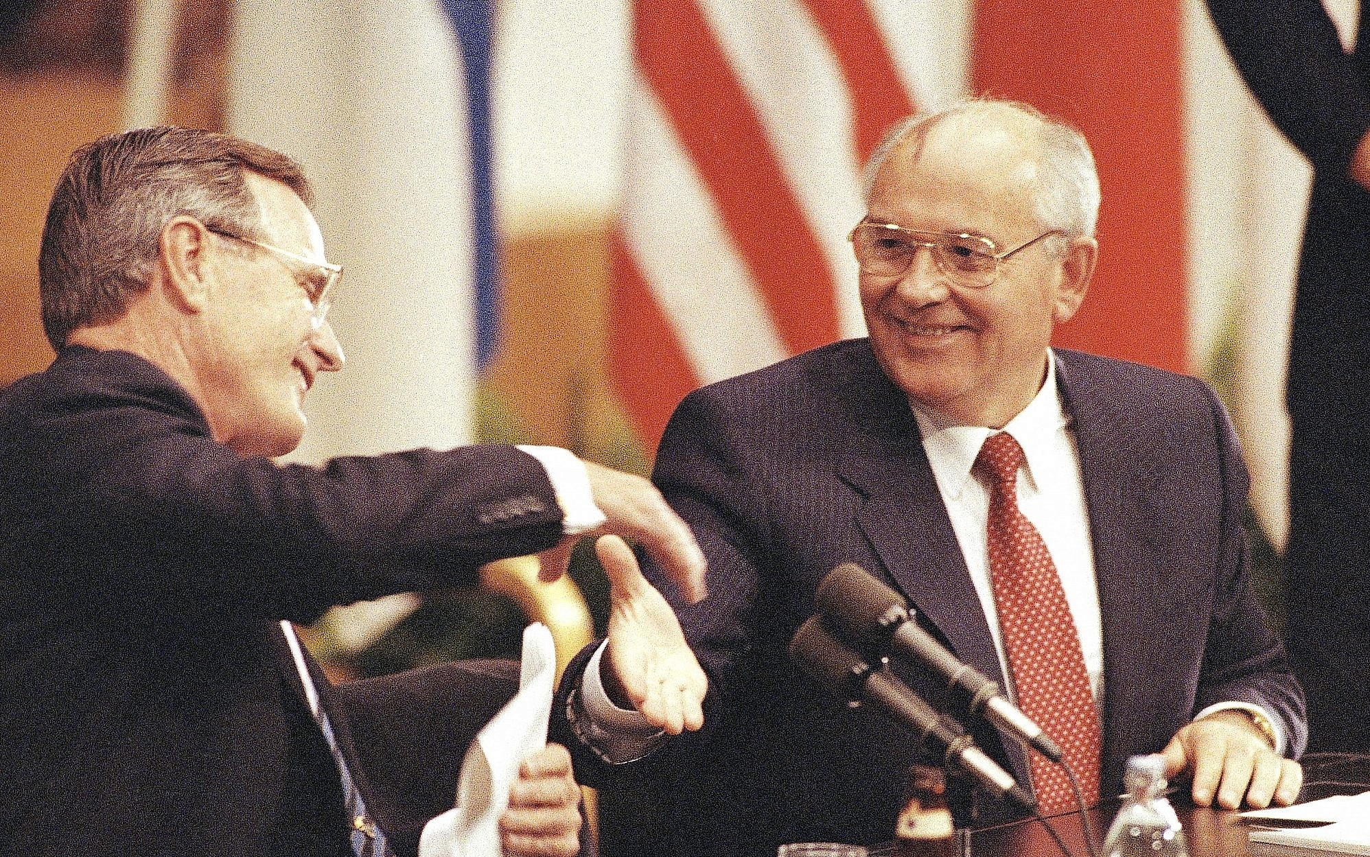 Bush och gorbatjov undertecknade start 1