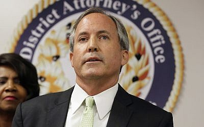 In this June 22, 2017 file photo, Texas Attorney General Ken Paxton speaks at a news conference in Dallas. (AP Photo/Tony Gutierrez)